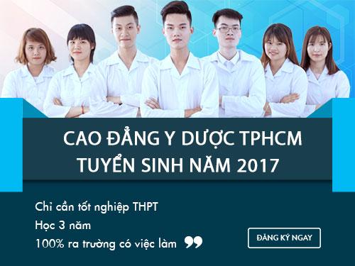Tuyển sinh Cao đẳng Y Dược TPHCM chỉ cần tốt nghiệp THPT