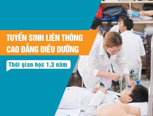 Thời gian đào tạo Liên thông Cao đẳng Điều dưỡng TPHCM