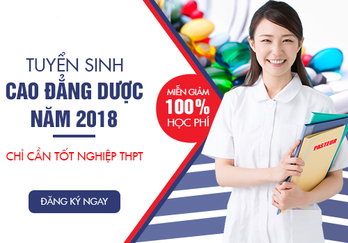 Miễn 100% học phí khi theo học Cao đẳng Dược TPHCM năm 2018